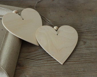 Wooden heart  decor / set of 10 / big wooden heart / home decor / scandi style decor