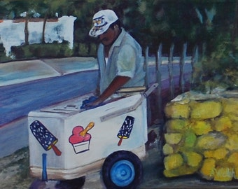 El Vendedor - Paletas - Ice cream - Helados - Ethnic Art