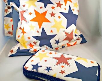 Riley Blake Stars Gift Set-Large Wet Bag and Wipes Case