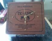 Te-Amo Cigar Box Clock