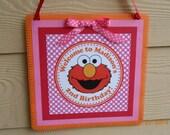 Elmo Door Sign-Sesame Street Door Sign-Elmo Birthday Sign-Sesame Street Birthday Sign-Elmo Party Decoration-Sesame Street Decoration-Girl's
