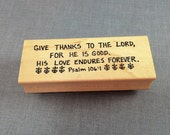 Give Thanks to the Lord Rubber Stamp