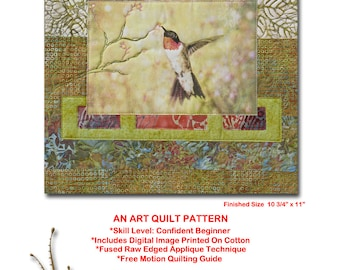 HALF OFF SALE!  Garden Song, An Art Quilt Pattern with A Photo Printed on Fabric