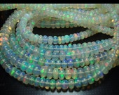 Natural ethiopian smooth opal high quality beautiful fire, size 4 mm, sold by 10 beads