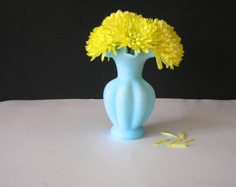 Powder Blue Fenton Ruffle Vase