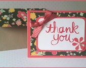 Thank You Cards: Two Matching Blank Cards with Coordinating Envelopes-Rose Blossoms