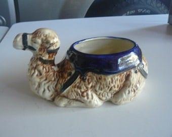 Vintage  Hand Painted Glazed Ceramic Camel Bowl/ Pot/Vase
