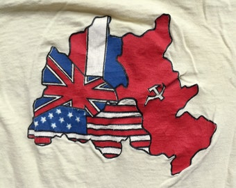 vintage OCCUPIED BERLIN shirt - 1970's - Size Small