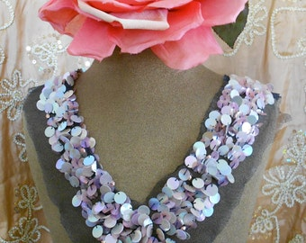 Delicate Pink Sequined Appliques