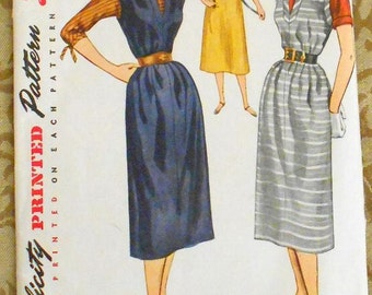 Simplicity 4080 jumper and blouse pattern, 1950s pattern, bust 38, chemise style jumper, kimono sleeve blouse