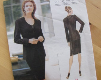 Uncut Vogue 1705 - Donna Karan - Sewing Pattern, Misses Petite Jacket & Skirt - Size 6-10