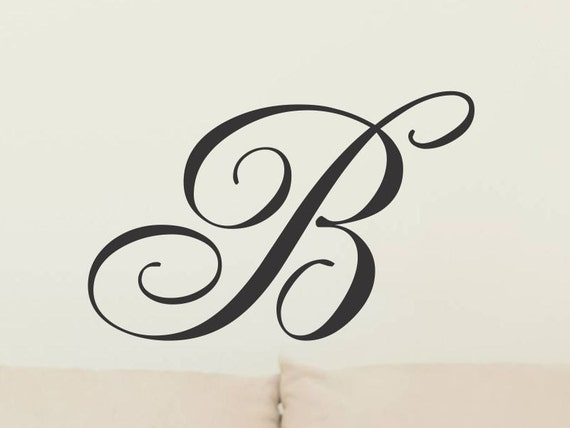 Initial Wall Decal Monogram Wall Decal Single Vinyl Letter Removable Wall Decor Decoration Vinyl Wall Letter Vinyl Wall Sticker 22 Inch 22rn