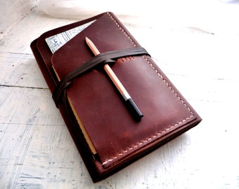 Refillable leather Journal. Moleskine leather case. Travel journal cover. Notebook cover. Brown leather organizer