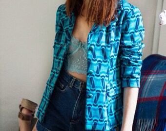 Vintage Pucci Inspired 1970s Blazer Size Extra Small