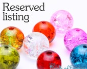 RESERVED LISTING - 10mm mixed color opaque flower acrylic beads - 750 pieces (1413)15) - Flat rate shipping