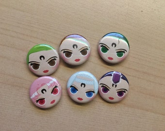 "Season 2 Villains 1"" Button 6-Pack"