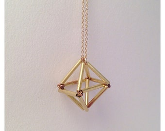 Himmeli Cage Geometric Necklace