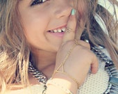 Mini Dainty Geometric Hand Chain for Girls Benefiting St. Judes