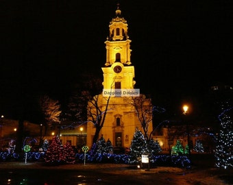 Photograph of the Cathedral at St. Johns in Milwaukee WI, Christmas