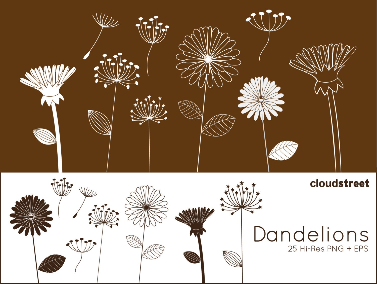 Clip Art Dandelion Clip Art dandelion clip art etsy buy 2 get 1 free dandelions clipart for personal and commercial use whimsical flower vector graphics