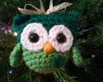 Irish Owl Ornament