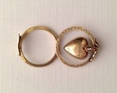 RESERVED XOXO Fede Gimmel Gold Heart Dangle