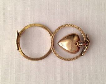XOXO Fede Gimmel Gold Heart Dangle