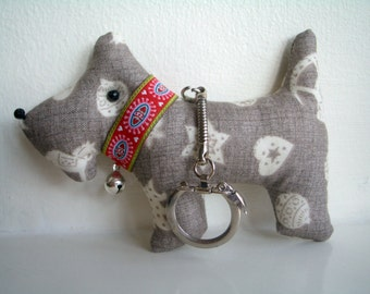 Bag Charms, Scottie Dog Keyrings,  - perfect present for Dog lovers.