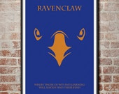 The Houses of Hogwarts: Ravenclaw Minimalist Harry Potter Poster