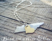 Tennessee Love Necklace-Nashville.Memphis. Knoxville. Chattanooga. Tennessee. Handmade. Bird on a Wire Jewelry- Tennessee Jewelry