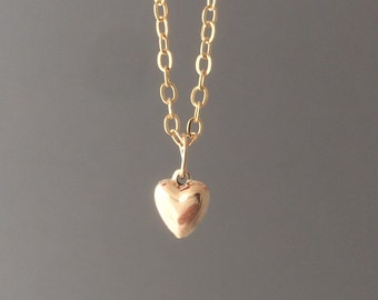 Gold Fill Heart Charm Bracelet also in Silver