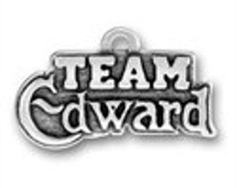 Team Edward - Sterling Silver Charm - Twilight Inspired