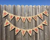 FIRST BIRTHDAY FOOTBALL Burlap Banner / Bunting / Decoration / Party Decor