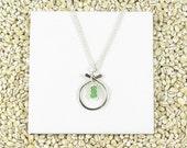 Emerald Birthstone Necklace, May Birthstone Jewelry, Emerald Green Gemstone Necklace, Bridal Party Jewelry, Item N180