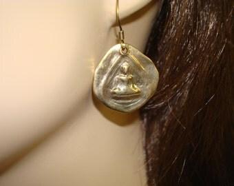 Women's Buddha Earrings // Jewelry, Women's Jewelry, Buddha Earrings, Onyx Earrings