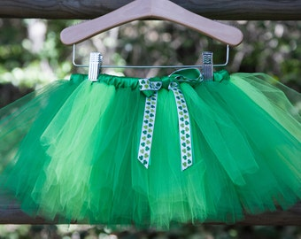 St. Patrick's Day Tutu, St Patricks Tutu, Green Tutu, Color Block St. Patricks Tutu