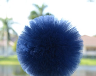 Navy blue Pom. Party decorations, weddings, baby showers, room decor