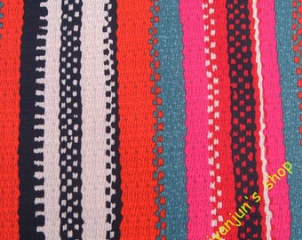 WF154  - Vinyl Waterproof Fabric - Color Strips - 1/2  yard