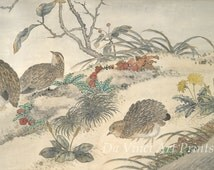 Chinese Calligraphy and Art Reproductions: Everlasting Contentment -  Qing Dynasty, 1773. Fine Art Print