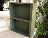 vintage,French-duck-egg,painted,shabby chic,solid wood apothecary shelf-small bathroom cabinet-