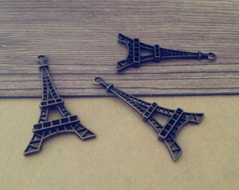 20pcs of Antique bronze Eiffel Tower pendant charm 24mmx46mm