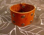 Leather Riveted Stud Bracelet