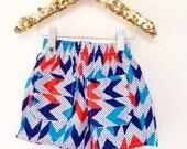Kids Vintage 6-12m Unworn Shorts Pattern Pocket Unisex