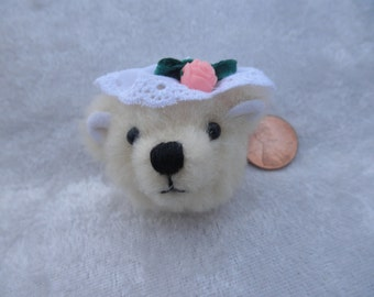 Teddy bear pin/brooch, wearable miniature teddy bear, holiday bear gift, bear jewelry