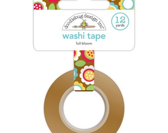 Full Bloom Washi Tape, 15mm x 12 yards by Doodlebug Designs