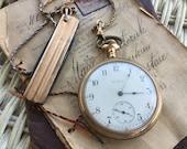 Antique Pocket Watch - Pocket Watch with Fob - Elgin Pocket Watch - Rosegold Pocket Watch - Pocket Knife Fob - 1910 Pocketwatch