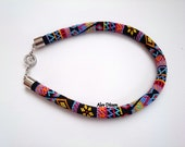 DISCOUNT - Black Summer Bead Crochet Necklace - Black Summer Beaded Necklace - Colorful Handmade Beadwork Necklace -  Bead Necklace