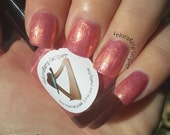 Miracle (mini 5ml)- Coral iridescent shimmer indie polish by Fedoraharp Lacquer