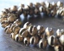 Bhutan Small Bright Brass Tibetan Temple Jingle Bells (10) - Ethnic Snake Head Bells
