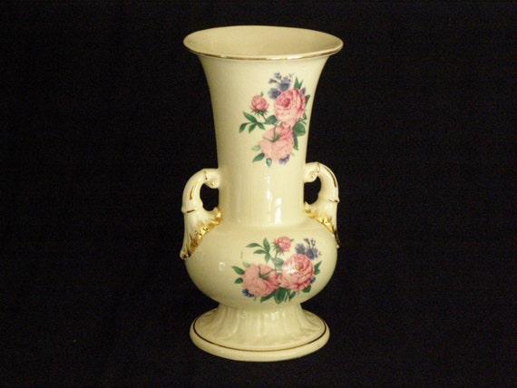 Vintage Spaulding China Roses Gold Trim 1950 S Vase Urn